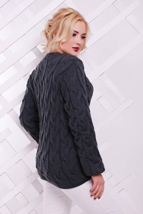 Женский свитер серого графитового цвета от Niko-Opt - SVV0020 (фото 2)