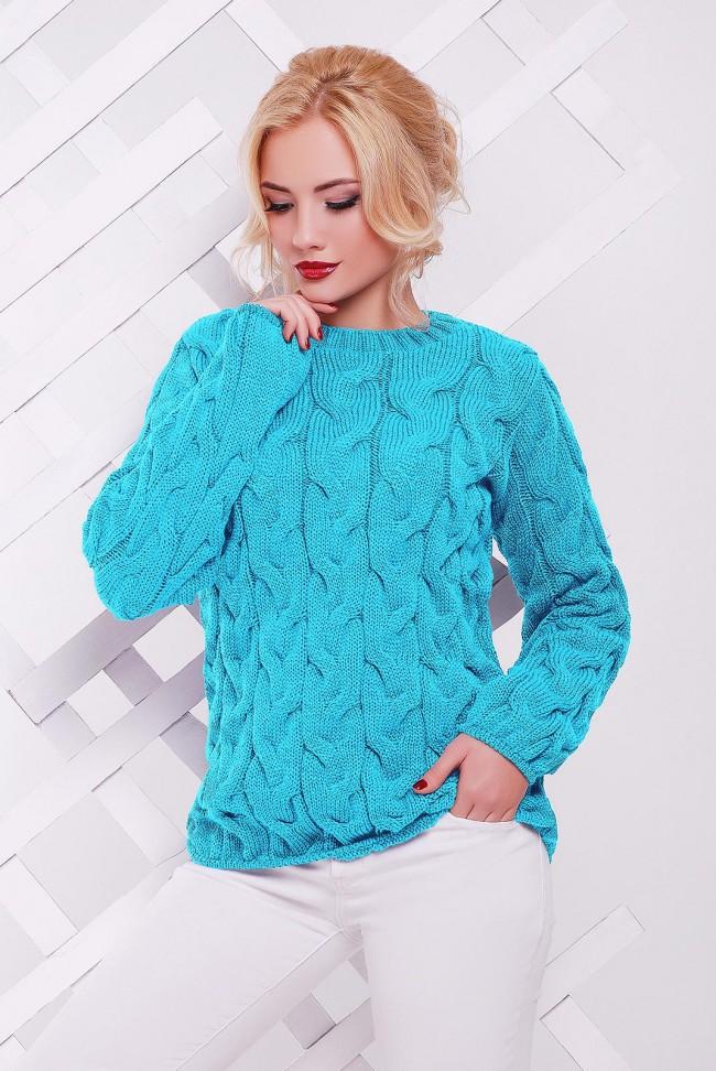 Женский мятный свитер