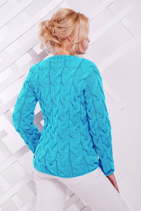 Женский мятный свитер (фото 2)
