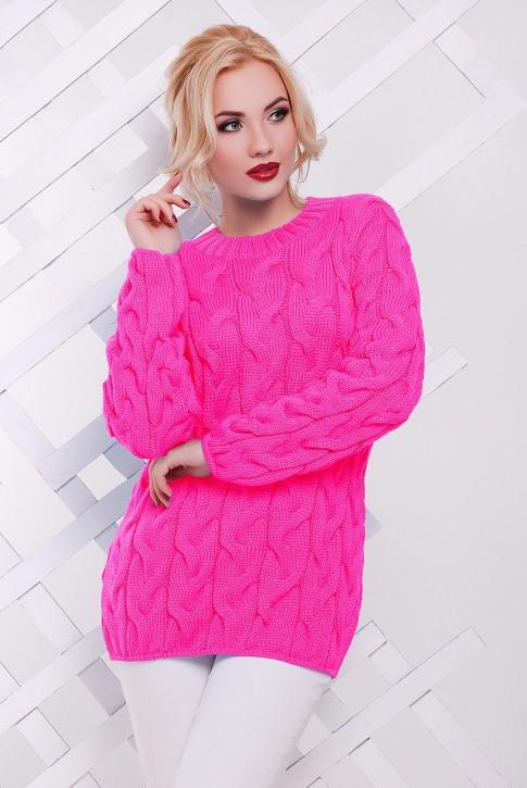 Ярко-розовый женский свитер по оптовой цене