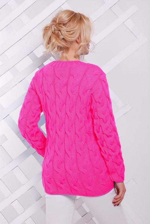 Ярко-розовый женский свитер по оптовой цене (фото 2)