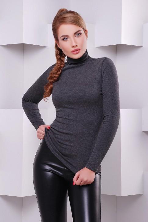 Темно серый женский гольф из вискозы - KF-1391A