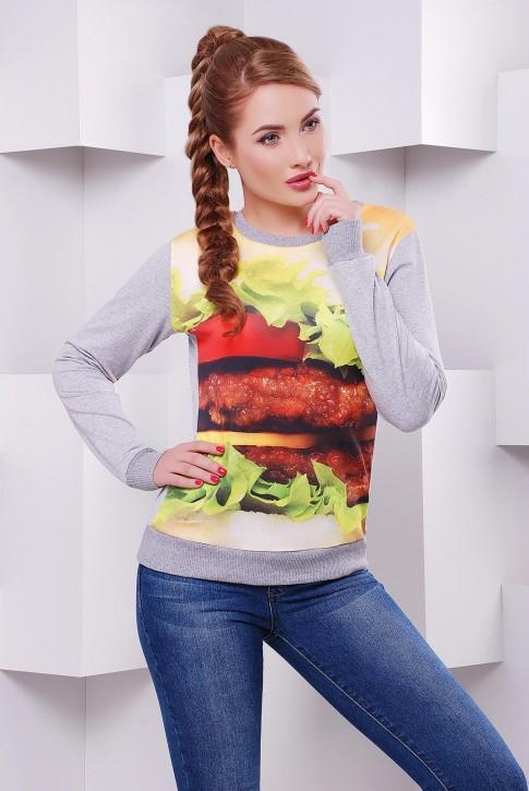 Оригинальный женский свитшот Гамбургер - KF-1409C