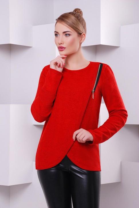 Красная женская кофта Milan из теплой ангоры с начесом - KF-1401E