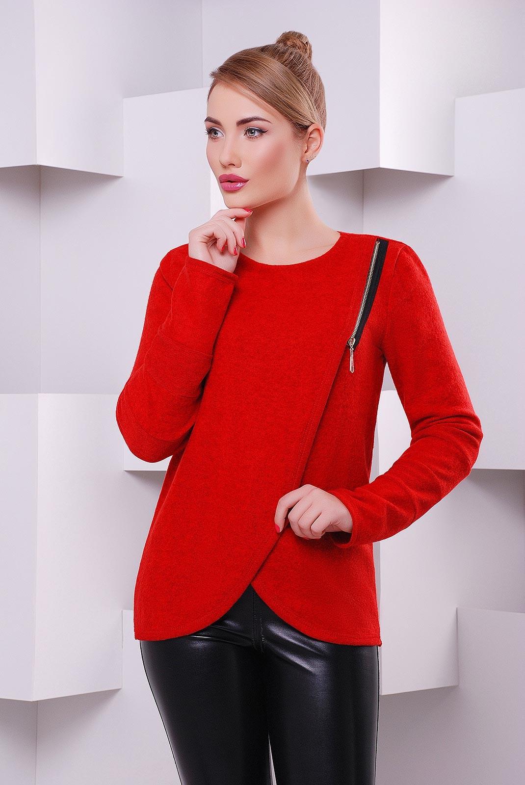 f5226912dec86f Красная женская кофта Milan из теплой ангоры с начесом - KF-1401E. Loading  zoom
