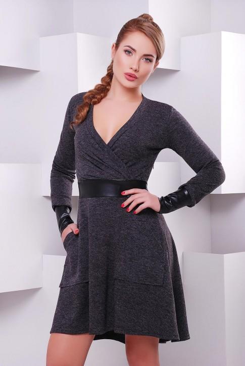"""Приталенное платье с v образным вырезом на запах """"Elegant"""" PL-1396A"""
