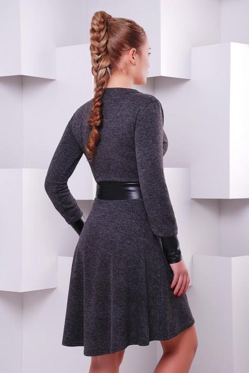 """Приталенное платье с v образным вырезом на запах """"Elegant"""" PL-1396A (фото 2)"""