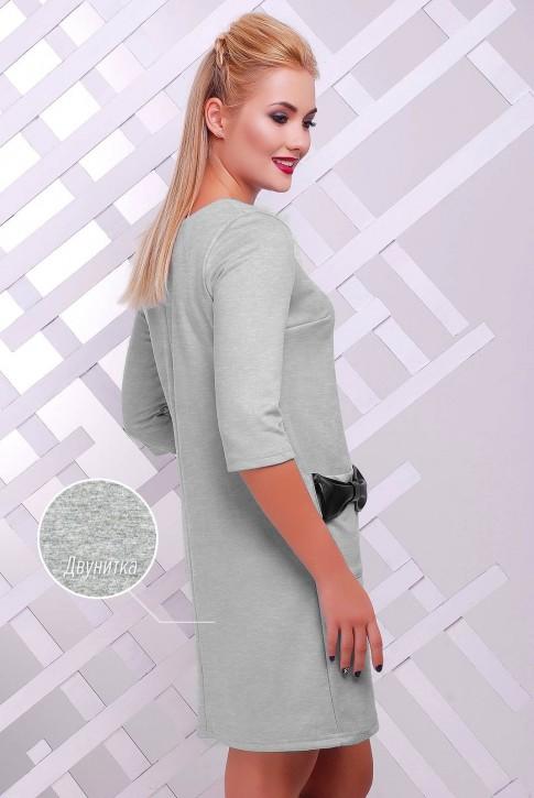 Платье с бантиками цвета меланж PL-1351F