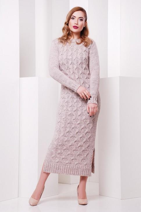"""Платье длинное бежевое """"SOTI"""" VPS0002"""
