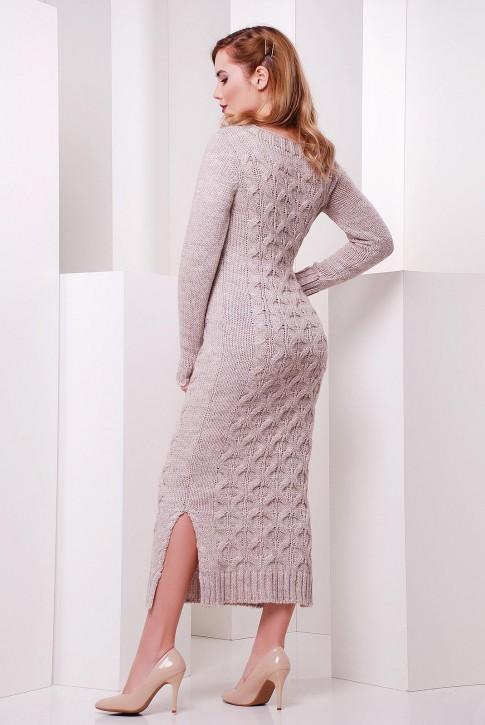 """Платье длинное бежевое """"SOTI"""" VPS0002 (фото 2)"""