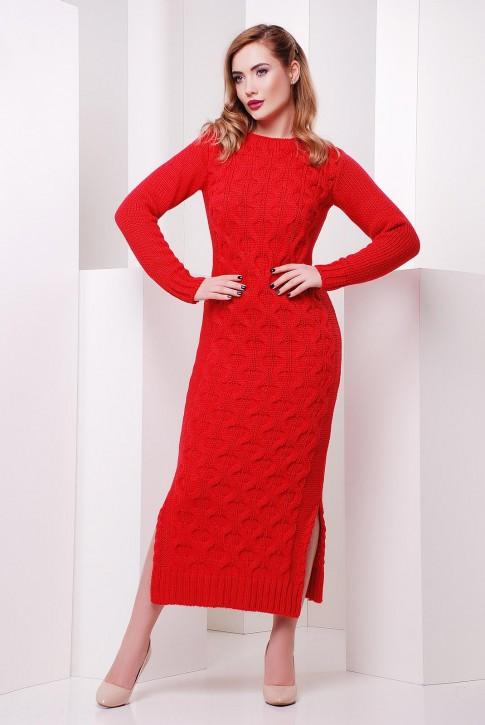 """Коралловое длинное платье """"SOTI"""" VPS0003"""