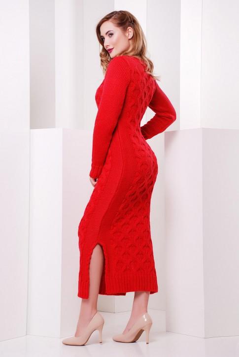 """Коралловое длинное платье """"SOTI"""" VPS0003 (фото 2)"""