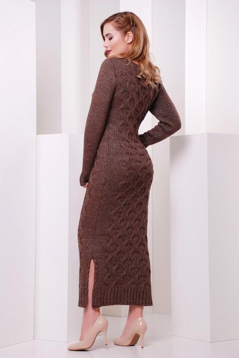 """Длинное платье шоколадного цвета """"SOTI"""" VPS0004 (фото 2)"""