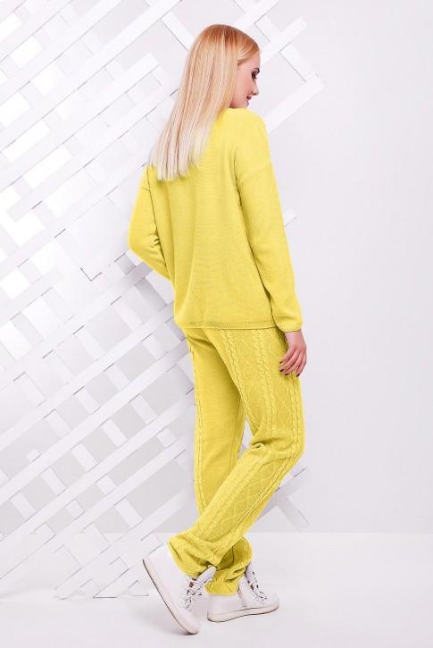 Теплый вязаный женский костюм LILI, желтого цвета (фото 2)