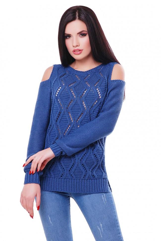 """Удобный женский свитер под джинсы """"LALA"""" SVL0003"""