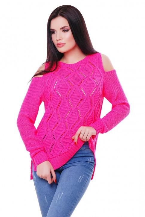 Ярко розовый свитер от производителя