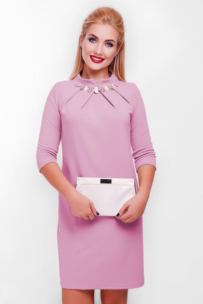 """Сиреневое платье """"Бусинка"""" PL-1357H"""