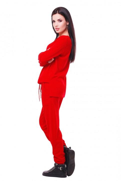"""Красный женский комбинезон с карманами """"COCO"""" VKB0012 (фото 2)"""