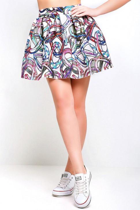Cтильная юбка из неопрена - YB-1321B
