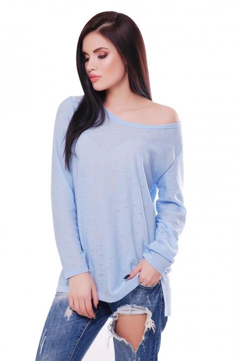 """Нежно-голубой свитер """"NELY"""" SVN0001"""