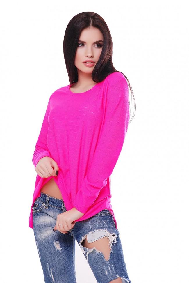 """Розовый неоновый свитер """"NELY"""" SVN0003"""
