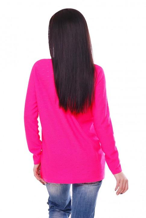 """Розовый неоновый свитер """"NELY"""" SVN0003 (фото 2)"""