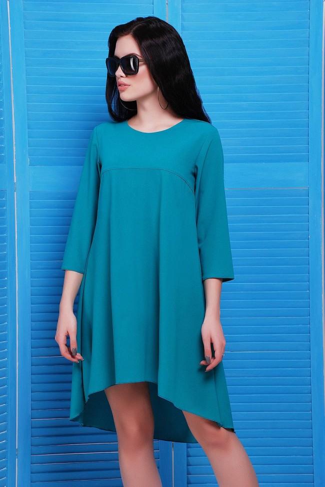 """Платье изумрудного цвета из креп-шифона - """"Viva"""" PL-1451E"""