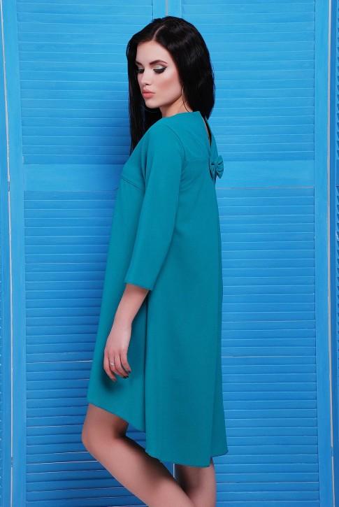 """Платье изумрудного цвета из креп-шифона - """"Viva"""" PL-1451E (фото 2)"""