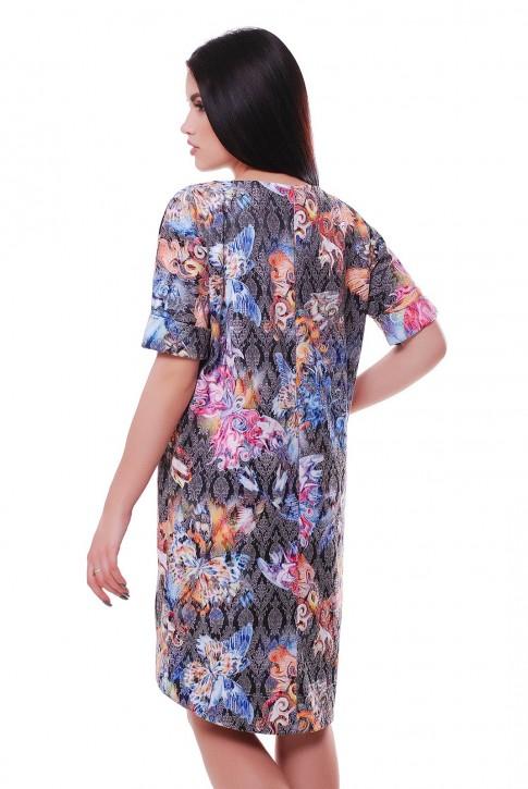Позитивное женское платье в принт бабочки (фото 2)