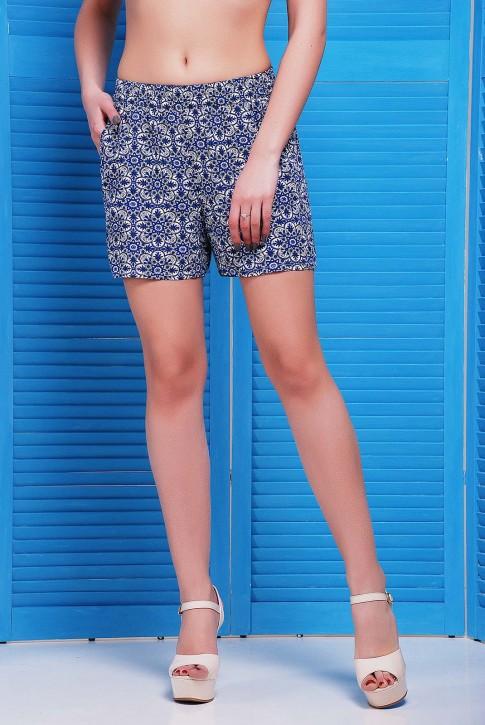 Женские шорты с синим орнаментом SH-1490A (фото 2)