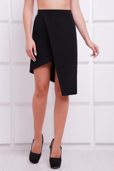 Черная юбка с потайной молнией