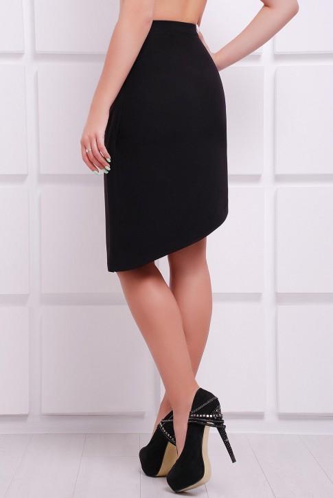 Черная юбка с потайной молнией (фото 2)