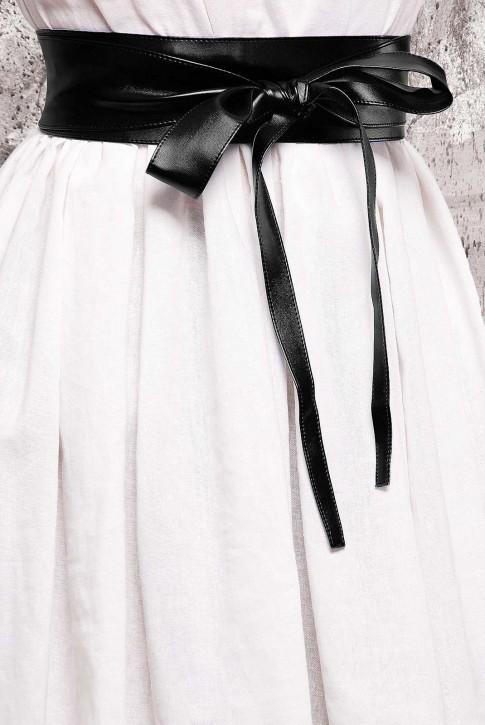 Пояс черного цвета из экокожи - PS-1312A