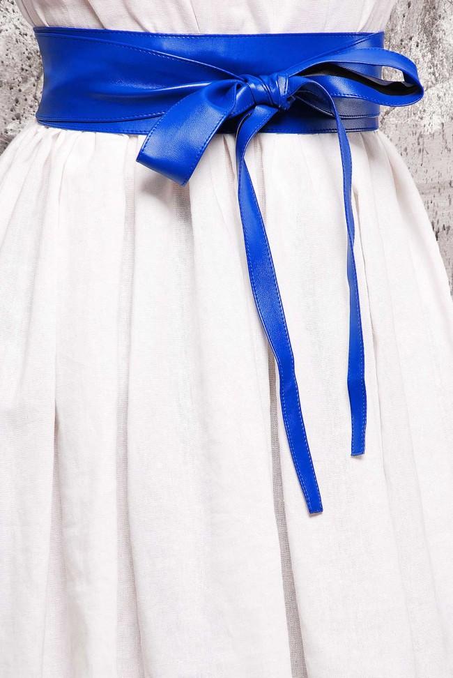 Пояс синего цвета из экокожи - PS-1312C