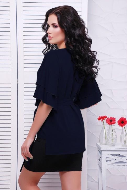 Шифоновая блузка, темно-синяя BZ-1530H | Распродажа (фото 2)