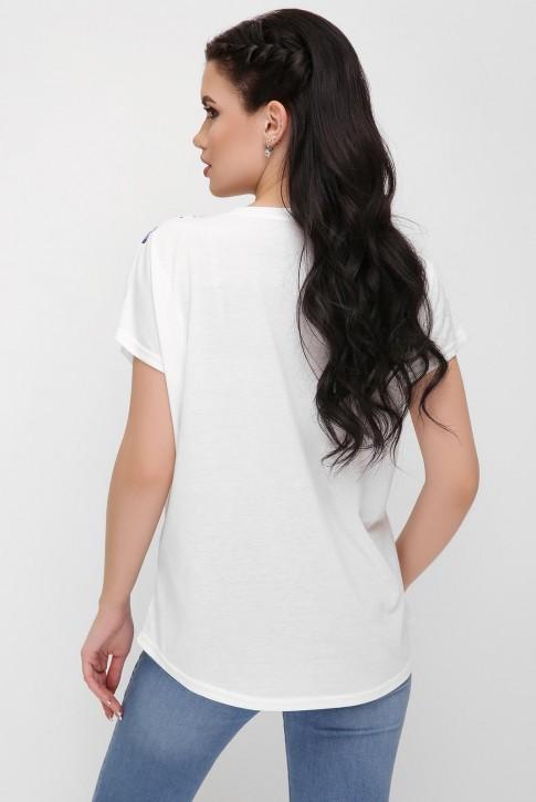 "Женская футболка с птицами - ""Air"" FB-1614C (фото 2)"