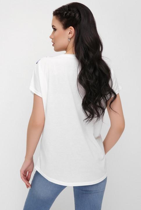"""Женская футболка с цветами роз - """"Air"""" FB-1614E (фото 2)"""