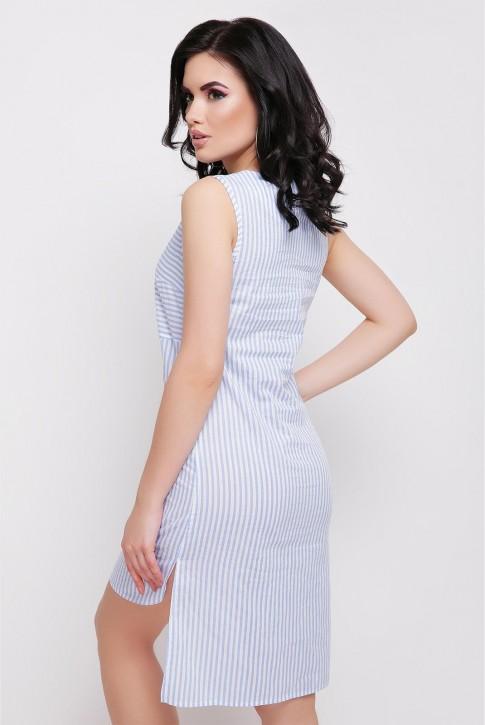 Платье Lily без рукавов в голубую полоску (фото 2)