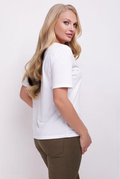 """Белая женская футболка """"Bristol"""" большого размера (фото 2)"""