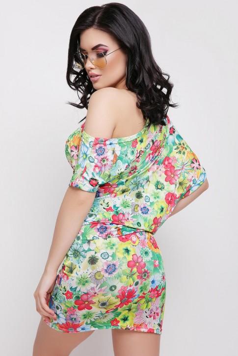 """Облегающее платье """"Jolie"""" с цветочным принтом (фото 2)"""