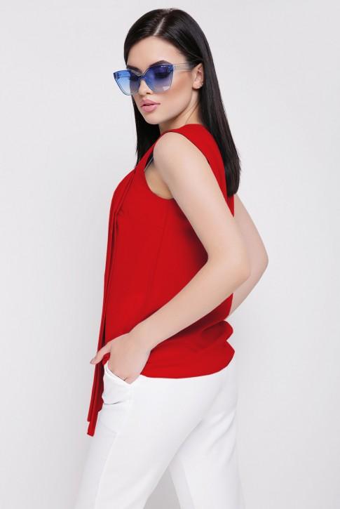 Летняя красная блузка без рукавов (фото 2)