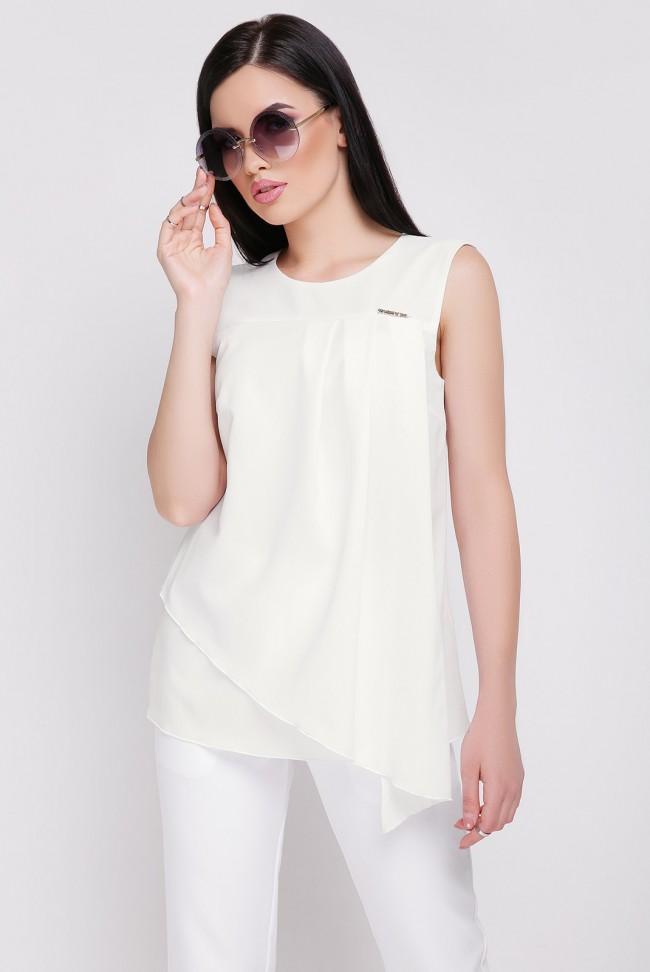 Блуза из шифона BZ-1625C цвета молоко