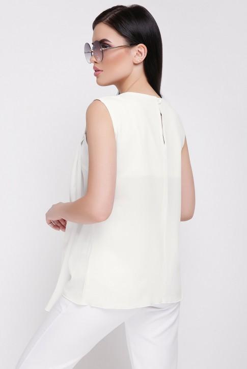 Блуза из шифона BZ-1625C цвета молоко (фото 2)