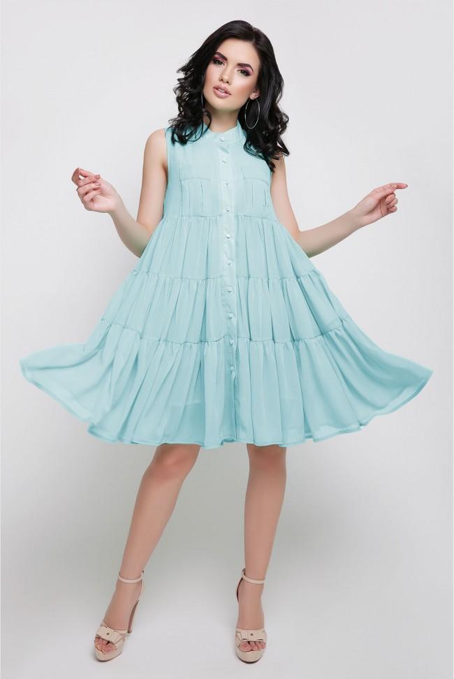 """Летнее платье """"Princess"""" нежно голубого цвета"""
