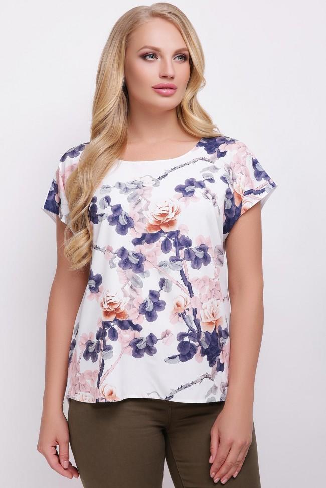 """Женская футболка """"Lada"""" с цветочным принтом"""