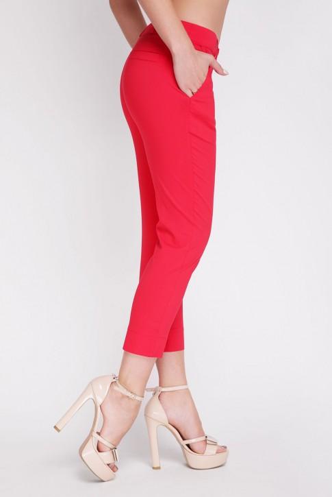 Укороченные красные брюки. BRK-012A (фото 2)