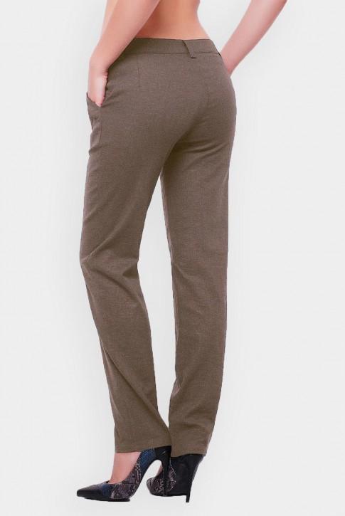 Женские брюки из льна светло-коричневые (фото 2)