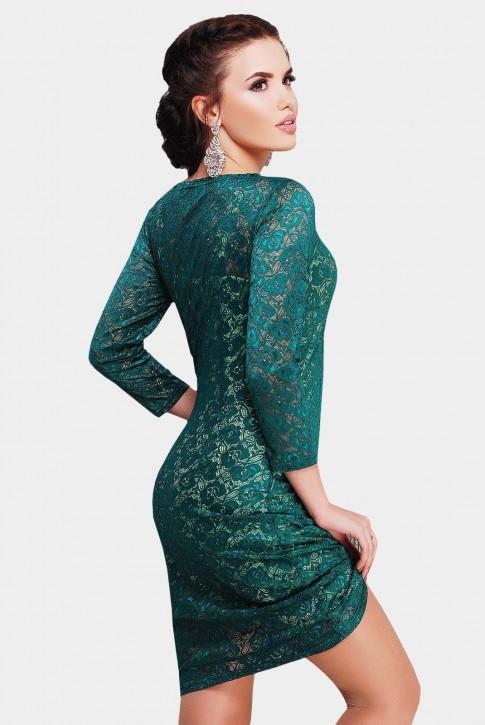 Изумрудное гипюровое платье (фото 2)