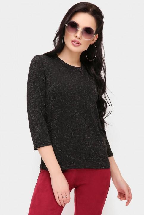 Черная женская кофта с люрексом