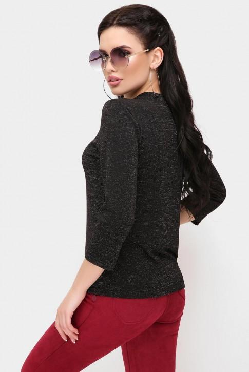 Черная женская кофта с люрексом (фото 2)